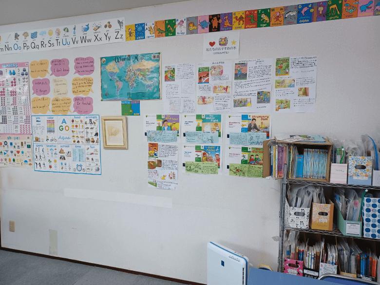 tes こども英会話の教室の壁2