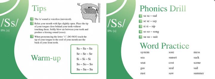 kimini英会話「絵で発音コース」の教材1と2