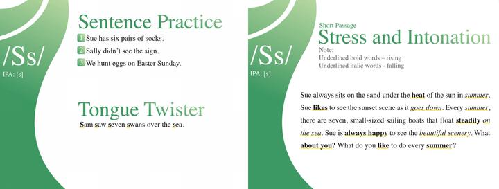 kimini英会話「絵で発音コース」の教材3と4