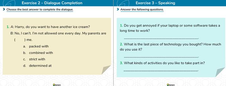 kimini英会話「英検対策コース」の教材2
