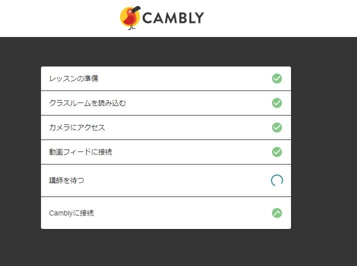 Camblyテクニカルチェック画面